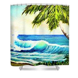 Hawaiian Beach Wave #420 Shower Curtain by Donald k Hall
