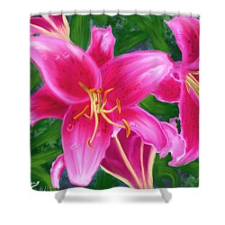 Hawaiian Flowers Shower Curtain