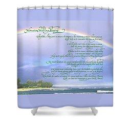 Hawaiian Language Wedding Blessing Shower Curtain