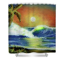 Hawaiian Moon #399 Shower Curtain by Donald k Hall