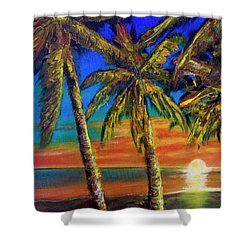 Hawaiian Moon #404 Shower Curtain by Donald k Hall