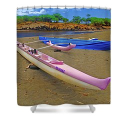Hawaiian Outigger Canoes Ver 1 Shower Curtain