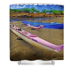 Hawaiian Outigger Canoes Ver 2 Shower Curtain
