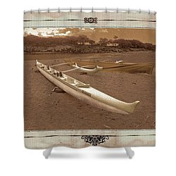 Hawaiian Outigger Canoes Ver 3 Shower Curtain