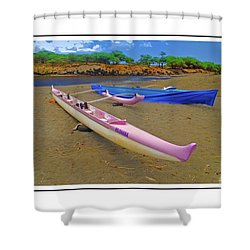 Hawaiian Outigger Canoes Ver 4 Shower Curtain