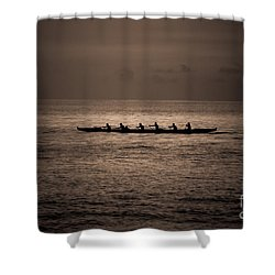 Hawaiian Outrigger Shower Curtain by Kelly Wade