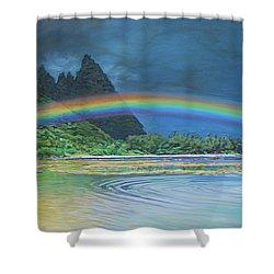 Hawaiian Rainbow Shower Curtain