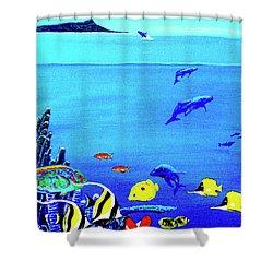 Hawaiian Reef Fish Nimo #193 Shower Curtain by Donald k Hall