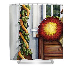 Hawaiian Still Life Panel Shower Curtain by Sandra Blazel - Printscapes