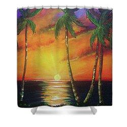 Hawaiian Sunset  #329 Shower Curtain by Donald k Hall