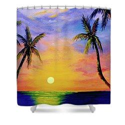 Hawaiian Sunset #36 Shower Curtain by Donald k Hall