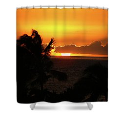 Shower Curtain featuring the photograph Hawaiian Sunset by Anthony Jones
