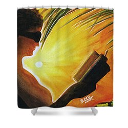 Hawaiian Sunset Catching The Last Rays #132 Shower Curtain by Donald k Hall