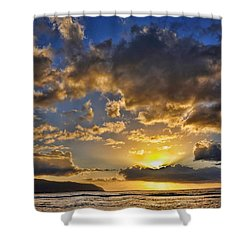 Hawaiian Sunset Shower Curtain by Gina Savage