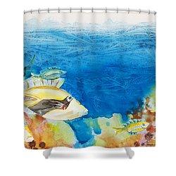 Hawaiian Triggerfish Shower Curtain by Tanya L Haynes - Printscapes