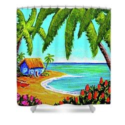 Hawaiian Tropical Beach  #364 Shower Curtain by Donald k Hall