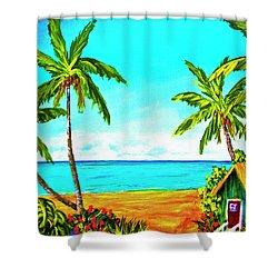 Hawaiian Tropical Beach #366  Shower Curtain by Donald k Hall
