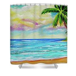 Hawaiian Tropical Beach #408 Shower Curtain by Donald k Hall