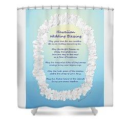 Hawaiian Wedding Blessing Shower Curtain