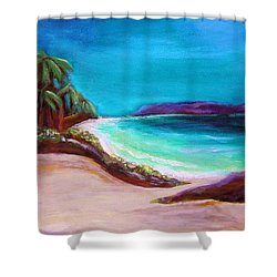 Shower Curtain featuring the painting Hawaiin Blue by Patricia Piffath