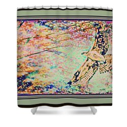 Hawk And Sky Shower Curtain by YoMamaBird Rhonda