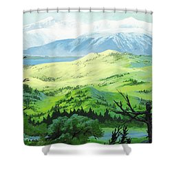 Hawk Meadows Shower Curtain