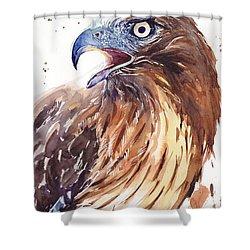 Hawk Watercolor Shower Curtain