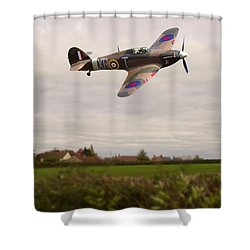 Shower Curtain featuring the photograph Hawker Hurricane -1 by Paul Gulliver