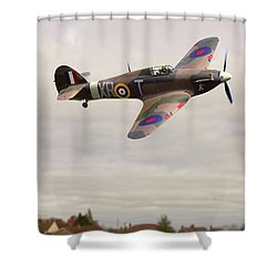 Shower Curtain featuring the photograph Hawker Hurricane -2 by Paul Gulliver