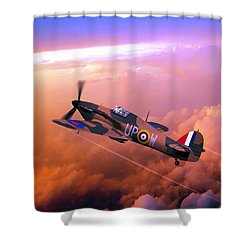 Hawker Hurricane British Fighter Shower Curtain by John Wills