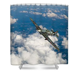 Shower Curtain featuring the photograph Hawker Hurricane IIb Of 174 Squadron by Gary Eason