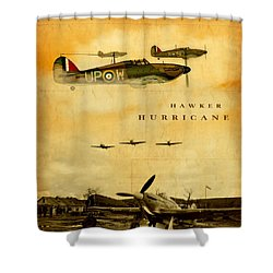 Hawker Hurricane Raf Shower Curtain by John Wills