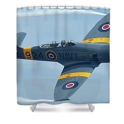 Shower Curtain featuring the photograph Hawker Sea Fury T20 N924g Chino California April 30 2016 by Brian Lockett