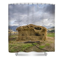 Hay Hut In Andes Shower Curtain