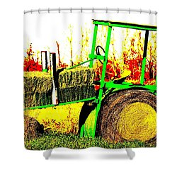 Hay It's A Tractor Shower Curtain