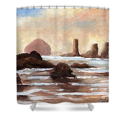 Hay Stack Reef Shower Curtain