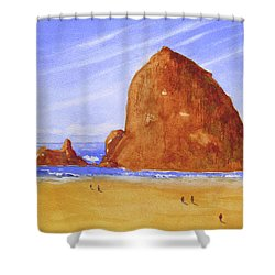 Hay Stack Rock Shower Curtain