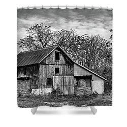 Hay Storage Shower Curtain