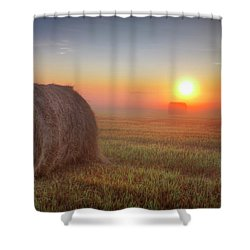 Hayrise Shower Curtain by Dan Jurak