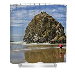 Haystack Rock 0258 Shower Curtain
