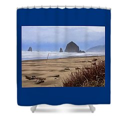 Haystack Rock Shower Curtain