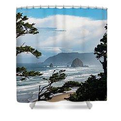 Haystack Views Shower Curtain