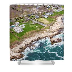 Hazard Rocks, Narragansett  Shower Curtain