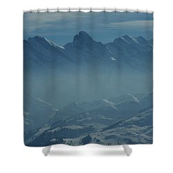 Haze In The Valley Shower Curtain