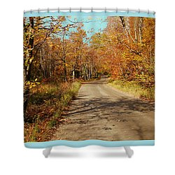 Hazen Notch Summit Road Shower Curtain by John Selmer Sr