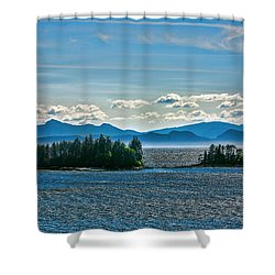 Hazy Alaskan Morning Shower Curtain
