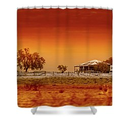 Hazy Days Shower Curtain by Holly Kempe