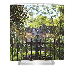 Hazy Garden Shower Curtain