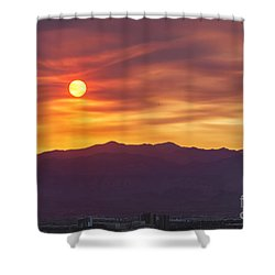 Hazy Las Vegas Sunset Shower Curtain
