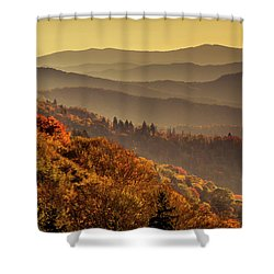 Hazy Sunny Layers In The Smoky Mountains Shower Curtain by Teri Virbickis
